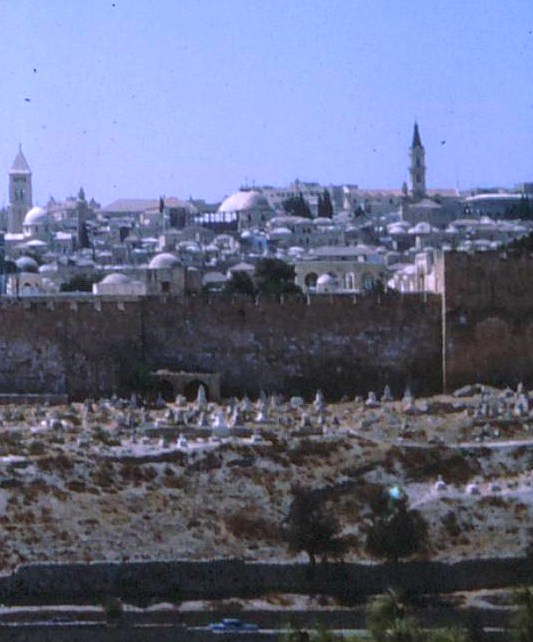 Part of Jerusalem from the Kidron valley
